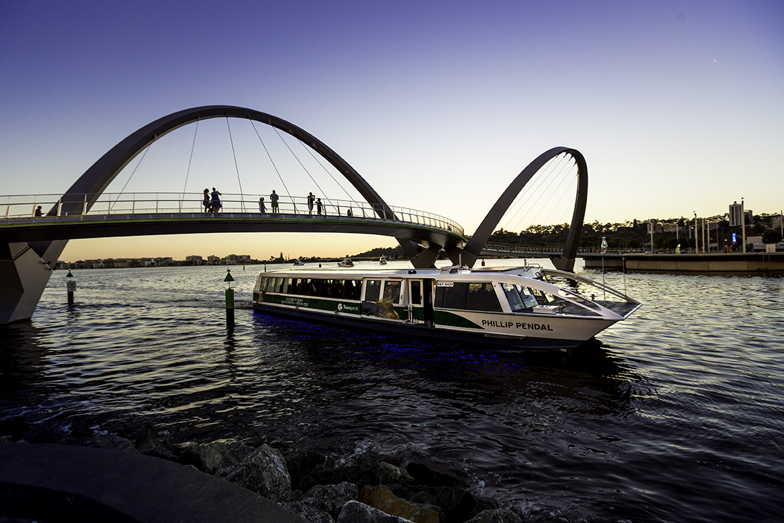 Transperth ferry on the Swan River